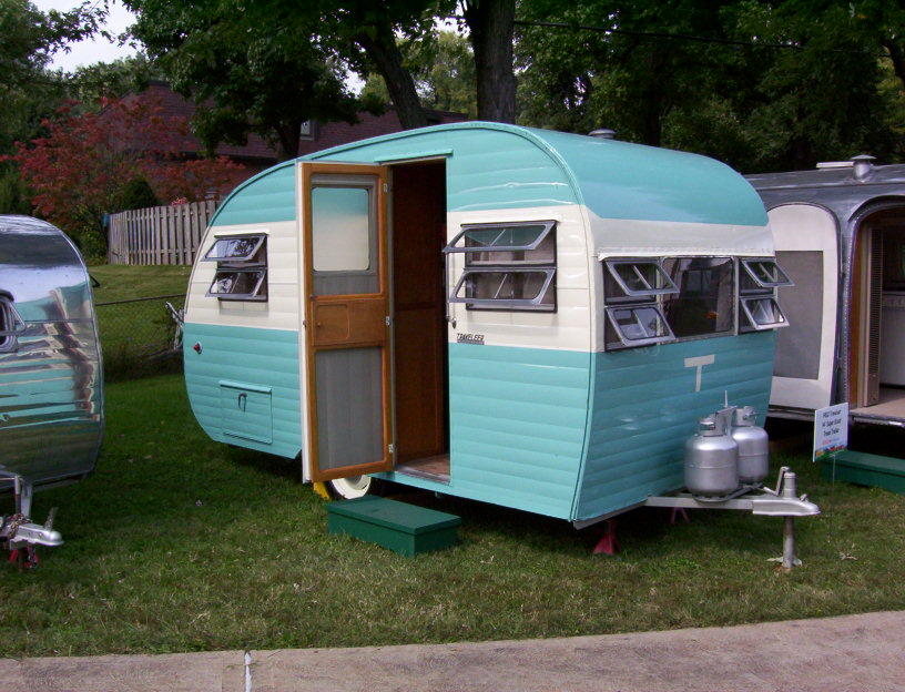 Perfect Jeep Old School Camping 1950 Willys Camper With Trailer  Photo
